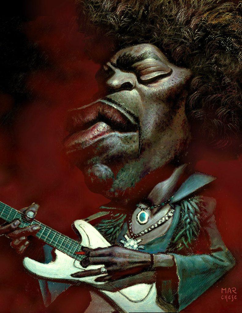 James Marshall Hendrix. Jimi el mágico - Óleo sobre papel