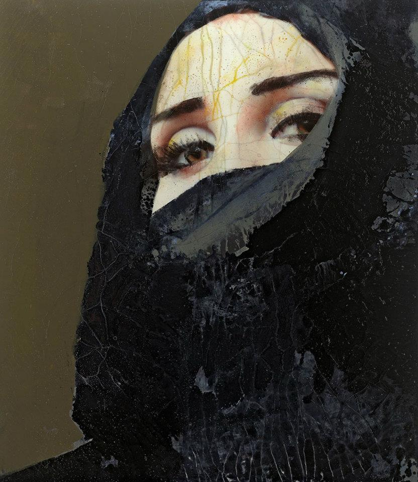 Lita Cabellut. Secret Behind the veil