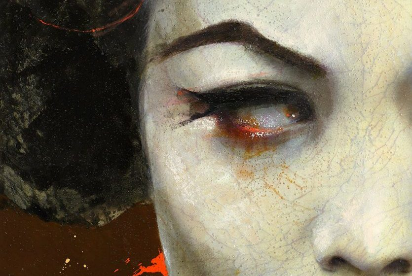 Lita Cabellut Dry Tear ·22 115x100 cm