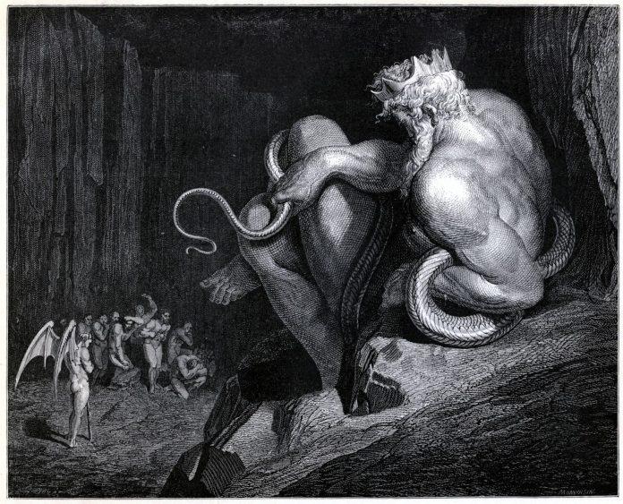 Ilustración para la Divina Comedia de Dante Alighieri