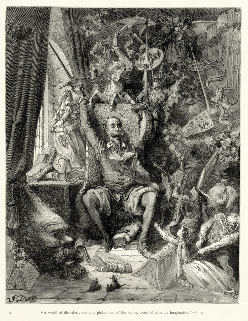 Ilustración para Don Quixote de M. de Cervantes/Wikipedia Commons