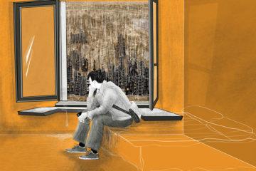 La soledad del Inmigrante. Ilustración @ro_Garabatos