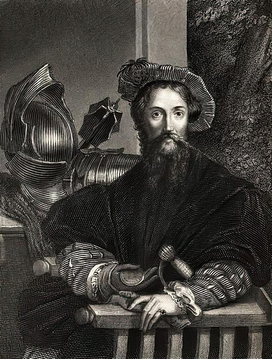 Cristóbal Colón (1451-1506) (grabado) de Parmigianino