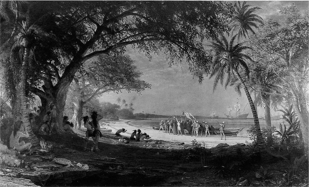 Albert Bierstadt: Die Landung von Kolumbus (1892)