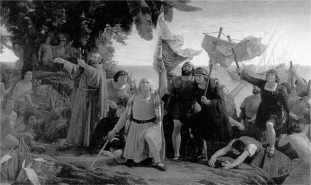 Dióscoro Teófilo Puebla Tolín: Primer desembarco de Colón en América (1862)